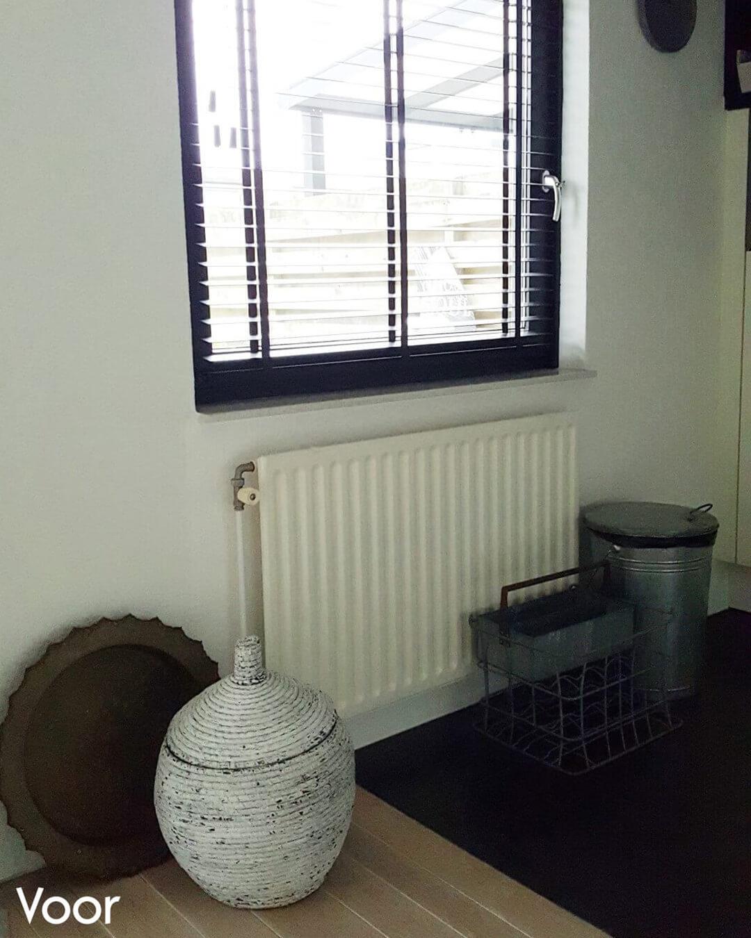 met deze ombouw was ze zo blij dat ze meteen wist dat ze ook in haar nieuwe woning sentimos wilde gebruiken om haar radiatoren op te leuken